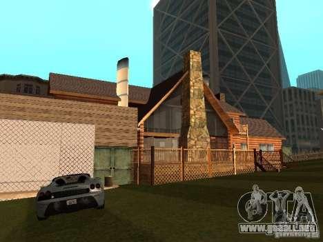 Villa en San Fierro para GTA San Andreas sucesivamente de pantalla