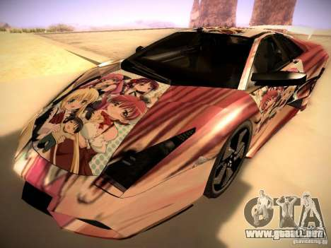 Lamborghini Reventon para GTA San Andreas interior