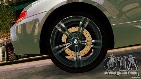 BMW M6 2010 para GTA 4 Vista posterior izquierda