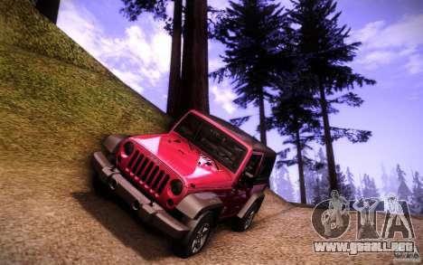 Jeep Wrangler Rubicon 2012 para vista inferior GTA San Andreas