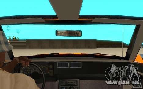 Chevrolet Camaro 1986 Targa Top para GTA San Andreas vista hacia atrás