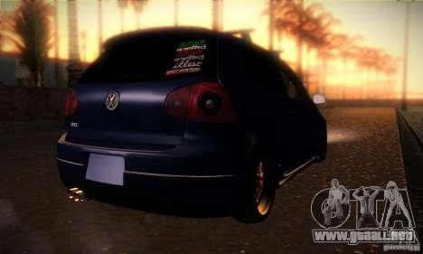 Volkswagen Golf Mk5 GTi para la visión correcta GTA San Andreas