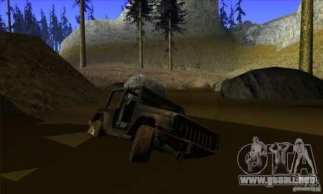 Jeep Wrangler para vista inferior GTA San Andreas