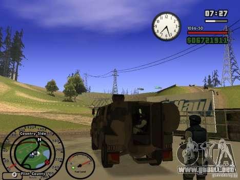 Australian Bushmaster para la visión correcta GTA San Andreas