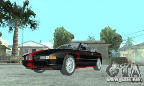 BMW 850i para GTA San Andreas vista hacia atrás