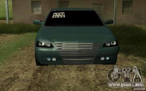 VAZ Lada Priora para GTA San Andreas vista posterior izquierda