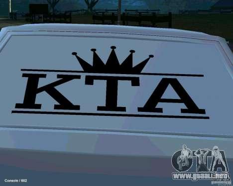 VAZ 2108 Drag para GTA San Andreas interior