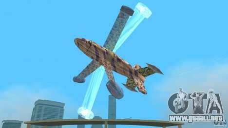 Conceptual Fighter Plane para GTA Vice City vista posterior