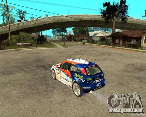 Ford Focus WRC 2002 para GTA San Andreas left