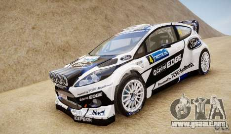 Ford Fiesta RS WRC para GTA 4 Vista posterior izquierda
