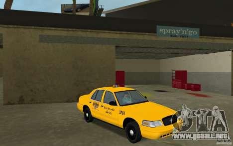 Ford Crown Victoria Taxi para GTA Vice City vista posterior
