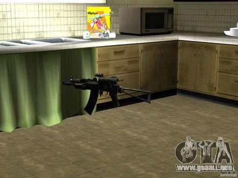 Pak versión doméstica armas 2 para GTA San Andreas segunda pantalla