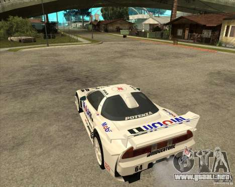 2001 Honda Mobil 1 NSX JGTC para GTA San Andreas left