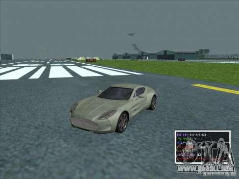 Aston Martin One 77 2011 para GTA San Andreas