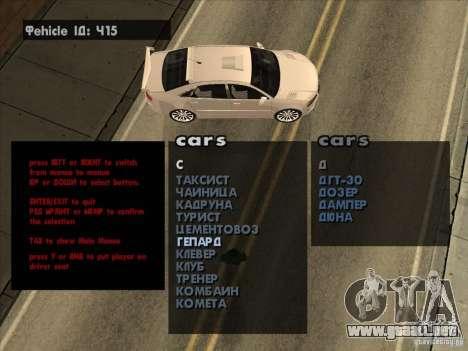 Máquinas de vehículo desove Premium-Spauner para GTA San Andreas tercera pantalla