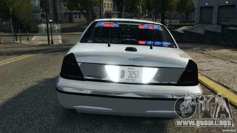 Ford Crown Victoria Police Unit [ELS] para GTA 4 ruedas