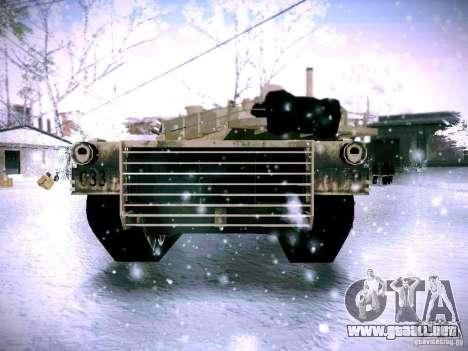 M1A2 Abrams de Battlefield 3 para GTA San Andreas vista posterior izquierda