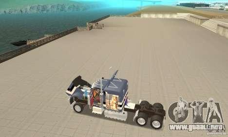 Peterbilt 359 para GTA San Andreas vista hacia atrás