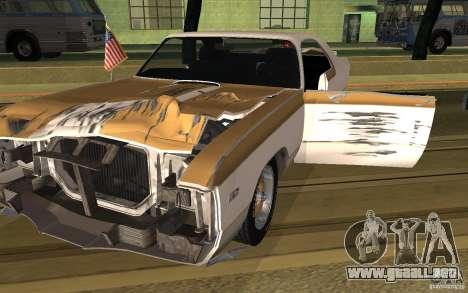 Chrysler 300 Hurst 1970 para GTA San Andreas vista posterior izquierda