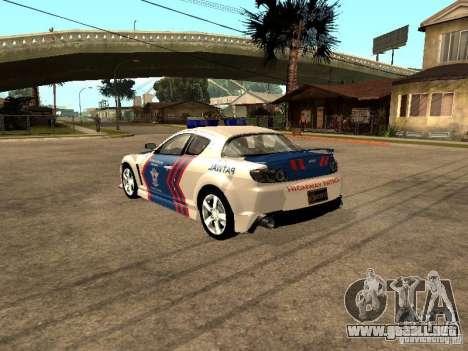 Mazda RX-8 Police para la visión correcta GTA San Andreas