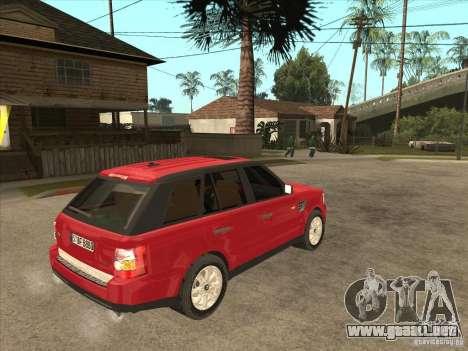 Range Rover Sport 2007 para la visión correcta GTA San Andreas