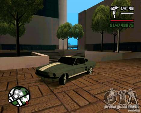 Ford Mustang 67 HotRot para GTA San Andreas left