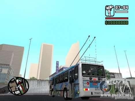 Marcopolo Torino GV Trolebus para GTA San Andreas vista posterior izquierda