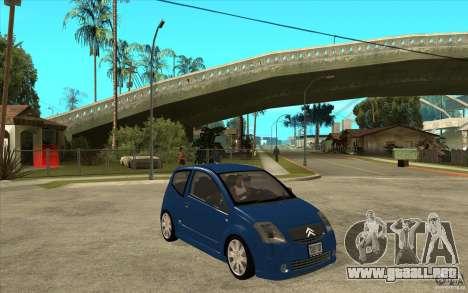 Citroen C2 - Stock para GTA San Andreas vista hacia atrás