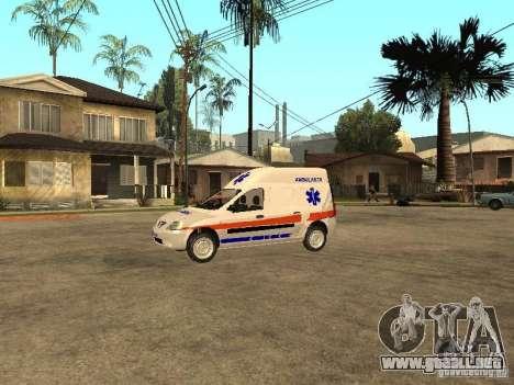 Dacia Logan Ambulanta para GTA San Andreas left