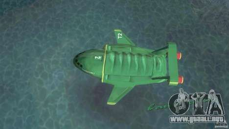ThunderBird 2 para GTA Vice City vista lateral izquierdo