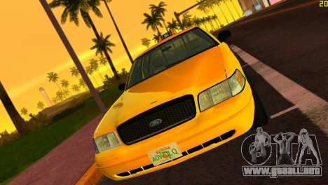 Ford Crown Victoria Taxi 2003 para GTA Vice City left
