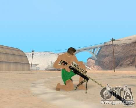 Gold weapons pack para GTA San Andreas sucesivamente de pantalla