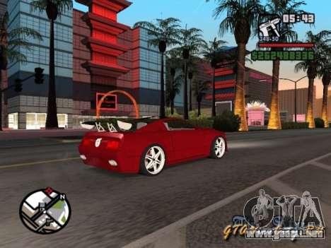 Ford Mustang GT 2005 Concept JVT LORD TUNING para vista lateral GTA San Andreas