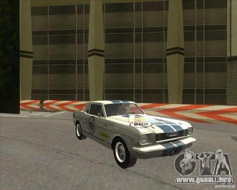 Ford Mustang 1965 para GTA San Andreas left