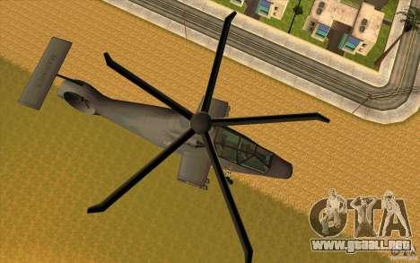 Sikorsky RAH-66 Comanche default grey para GTA San Andreas left
