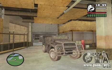 Camión militar para la visión correcta GTA San Andreas