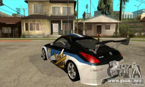 Nissan 350z Stock - Tunable para visión interna GTA San Andreas