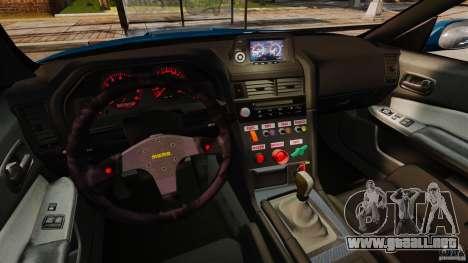 Nissan Skyline GT-R R34 Fast and Furious 4 para GTA 4 vista hacia atrás