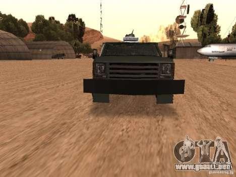 GMC SIERRA 3500 para vista lateral GTA San Andreas