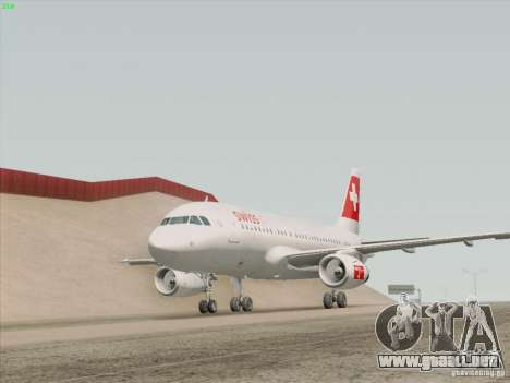 Airbus A319-112 Swiss International Air Lines para GTA San Andreas interior