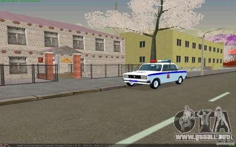Vaz 2105 PPP Zhiguli para GTA San Andreas vista hacia atrás