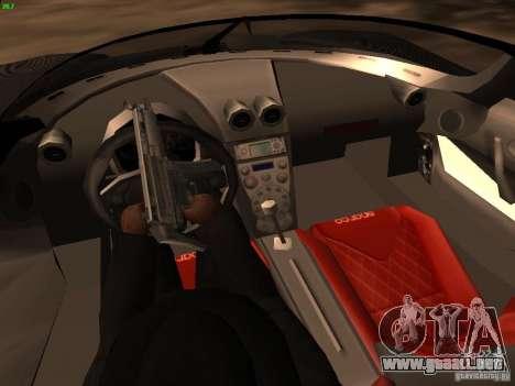 Koenigsegg CCXR Edition para vista inferior GTA San Andreas