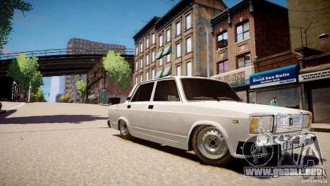 VAZ 2107 para GTA 4 vista hacia atrás