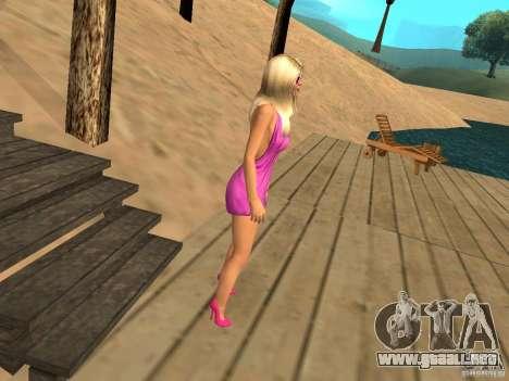 Mia Pinky para GTA San Andreas tercera pantalla