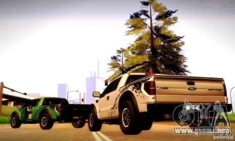 Ford F-150 SVT Raptor V1.0 para GTA San Andreas vista posterior izquierda