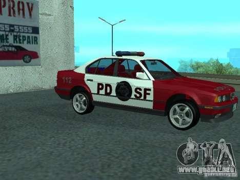 BMW 535i E34 Police para GTA San Andreas vista posterior izquierda