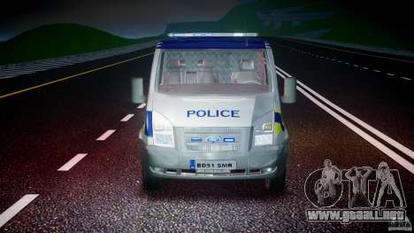 Ford Transit Polish Police [ELS] para GTA 4 vista lateral