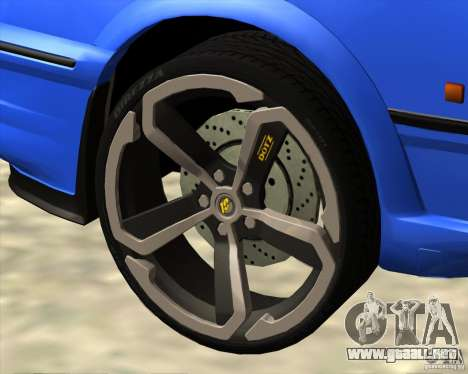 Z-s wheel pack para GTA San Andreas sucesivamente de pantalla