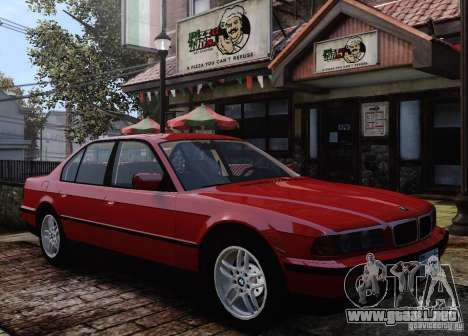 BMW 750i E38 1998 M-Packet para GTA 4 vista superior