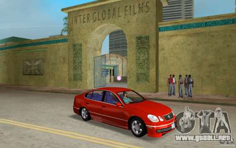Lexus GS430 para GTA Vice City vista posterior